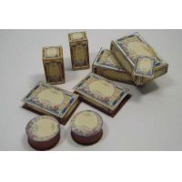 1:12th Scale Miniature Floral Toiletries Boxes