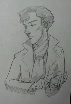 BBC Sherlock sketch dump (aka. Benedict's face is impossible) (From a pinner...I actually think you did really well!)