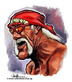 Wrestling Posters, Graffiti Cartoons, Andre The Giant, Black And White Landscape, Wwe Wallpapers, Wrestling Superstars, Celebrity Caricatures, Hulk Hogan, Incredible Hulk