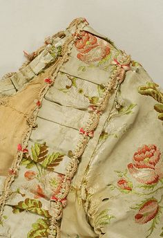 Wedding Dress (image 3) | British or French | 1760 | silk | Metropolitan Museum of Art | Accession Number: 40.136.1a, b