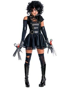 Womens Miss Edward ScissorHands Sexy Costume - Womens TV and Movie Halloween Costumes