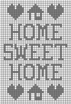 Home Sweet Home Filet Free Crochet Pattern from the Filet crochet Free Crochet Patterns Category and Knit Patterns at Craft Freely Crochet Patterns Filet, C2c Crochet, Crochet Cross, Tapestry Crochet, Crochet Home, Cross Stitch Patterns, Free Crochet, Knitting Patterns, Crochet Tablecloth