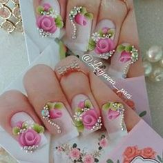 Pretty Nail Art, Love Nails, Painting Techniques, Manicure, Stickers, Fun, Beauty, Design, Close Up