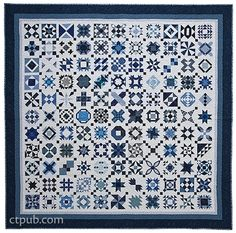 Sewing Quilts The Loyal Union Sampler from Elm Creek Quilts: 121 Traditional Blocks Two Color Quilts, Blue Quilts, Scrappy Quilts, White Quilts, Amish Quilts, Easy Quilts, Quilting Projects, Quilting Designs, Quilt Design