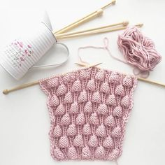 """How to Knit """"Raspberry"""" Stitch (Узор спицами """"Малинки"""")"""