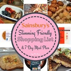 Asda 7 Day Slimming World Meal Plan & Shopping List - Sugar Pink Food Slimming World Meal Prep, Slimming World Shopping List, Slimming World Recipes Syn Free, Healthy Shopping, Shopping Lists, Beans On Toast, 7 Day Meal Plan, Pink Foods, Healthy Foods To Eat