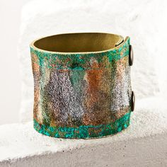 Leather Cuff Bracelets, Leather Jewelry, Women's Leather Bracelets, Leather Wristbands, Painted Leather, Valentine's Gift