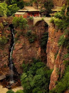 Waterfall, Mount Cangyan, Hebei, China