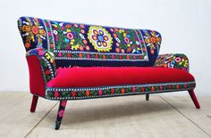 Suzani 3-seater sofa Summer by namedesignstudio on Etsy