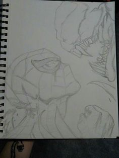 Spider-Man and Venom Marvel Drawings, Dark Art Drawings, Art Drawings Sketches, Spiderman Drawing, Spiderman Art, Joker Art, Comic Drawing, Marvel Art, Art Sketchbook