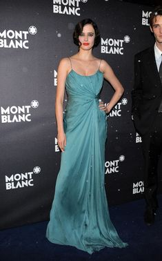 Draped and Demure at the Montblanc flagship store grand opening in Paris - Style Crush: Eva Green  - Photos