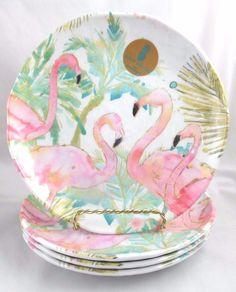 Outdoor Collection Set 4 8 Pineapple Flamingo Melamine