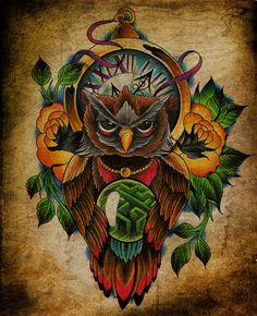Эскизы татуировки сова. Рисунки тату