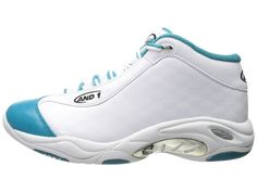 bfa25593e22 AND1 Tai Chi Allstar Men s Basketball Shoes White Teal Silver Men s  Basketball