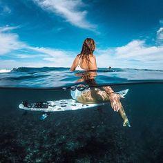#GoProAthlete @BiancaBuitendag scopes out the Sunday #surf with #GoProFamily member @chrisrogersza. Who got wet this weekend? Share your content with us at GoPro.com/Awards. • • • #GoPro #GoProSurf #HERO5 #GetOutside #GoProTravel #Indonesia