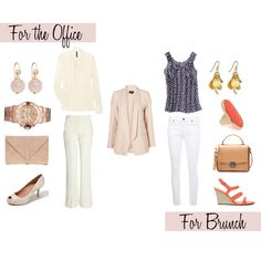 Two Ways: Peach Jacket, created by caphillstyle on Polyvore