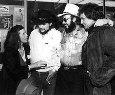 June Carter Cash, Waylon Jennings, Hank Williams Jr., and Johnny Cash