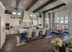 Awesome Open Concept Kitchen And Dining Room Design Ideas. Below are the Open Concept Kitchen And Dining Room Design Ideas. This article about Open Concept Kitchen And Dining Room Living Room Kitchen, Home Decor Kitchen, New Kitchen, Home Kitchens, Kitchen Ideas, Island Kitchen, Kitchen Cabinets, Awesome Kitchen, Small Kitchens