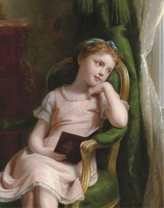 Daydreams by Fritz Zuber Buhler (1822 - 1896)