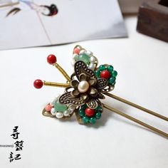 butterfly hair pin, traditional Chinese style