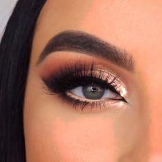 Makeup Eye Looks, Eye Makeup Steps, Eyebrow Makeup, Skin Makeup, Eyeshadow Makeup, Makeup Art, Makeup Ideas, Glam Makeup, Eye Makeup Tutorials