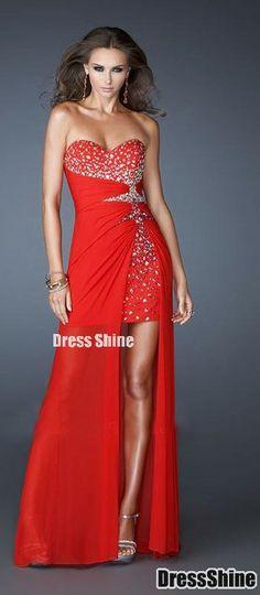 red evening dress red evening dress