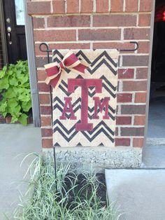 Texas A&M College Burlap Garden Flag would be a great gift to your Aggie couple on their wedding day!  Follow thehowdyweddingguide on Instagran for more Aggie wedding shares! Texas A M Football, College Football, Aggie Game, M Craft, All Flags, College Fun, Burlap Garden Flags, Burlap Crafts, Texas A&m