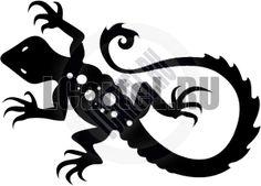 Наклейка Ящерица. Рисунок ящерицы для виниловой наклейки.