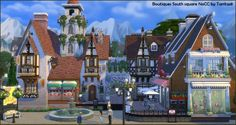Boutiques on South square at Tanitas8 Sims • Sims 4 Updates