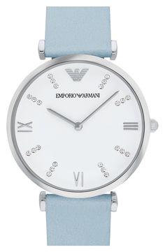 847c30ea9e0 Emporio Armani  Retro  Leather Strap Watch