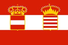 The flag, formally adopted as Marineflagge was based on the colours of the Archduchy of Austria. It served as the official flag also after the Ausgleich in 1867, when the Austrian navy became the Austro-Hungarian Navy. During World War I, Emperor Franz Joseph approved of a new design, which also contained the Hungarian arms. This flag, officially instituted in 1915, was however little used, and ships continued displaying the old Ensign until the end of the war.