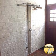 Steigerbuis Kapstok wandmodel staand 170cm hoog 33,7mm