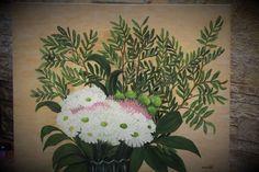 Хризантемы, масло, холст на подрамнике 40*50