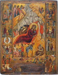 """""""Різдво Христове""""серед. 16 ст. ц. Покрови. Трушевичі. НМЛ"""