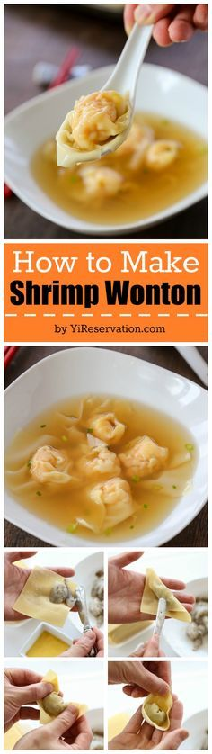 How to make delicious Chinese Cantonese style Shrimp Wonton (recipe) from scratch with step by step instructions!