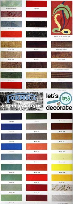 Formica Catalog From 1938 | 50 Colors & Designs | 12 Pages