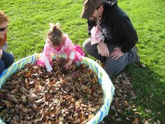 Fun Fall Game toy hunt in the leaves!