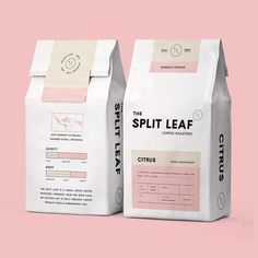 Split Leaf Coffee Roasters design by — selected by Food Packaging Design, Beverage Packaging, Coffee Packaging, Coffee Branding, Print Packaging, Food Branding, Chocolate Packaging, Product Packaging Design, Bottle Packaging