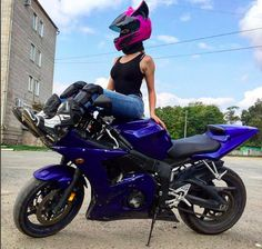 Pink cat ear motorcycle helmet 3