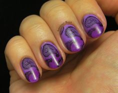 awesome Lacquer Buzz: Purple Paisley Check more at http://nailscandycoated.com/pin/7438/