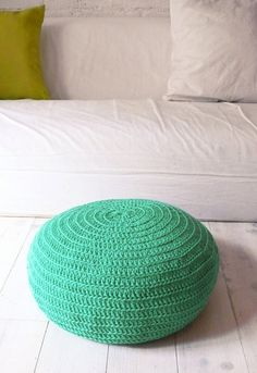Floor Cushion Crochet  green by lacasadecoto on Etsy, €48.00