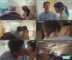 se joo kiss jeon seol in hospital room , koran romantic kiss - Chicago Typewriter: Episode 11 korean drama
