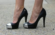 chanel steel toe pumps - Google Search