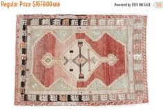10% OFF RUGS DISCOUNTED 3x4 Vintage Oushak Rug by oldnewhouse on Etsy https://www.etsy.com/listing/218824545/10-off-rugs-discounted-3x4-vintage