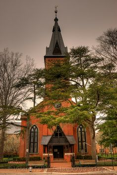 Igreja Episcopal de Cristo, fundada em Craven Parish em 1715, New Bern, Carolina do Norte, USA.