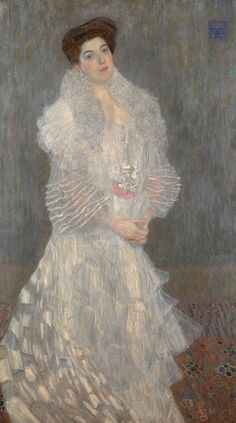 Gustav Klimt  (1862-1918) - Portrait of Hermine Gallia. Oil on Canvas. Circa 1904. 170.5cm x 96.5cm. The National Gallery. London, England.