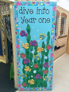 Under The Sea Classroom Door School 2 Preschool Door Classroom New Classroom, Classroom Displays, Classroom Themes, Ocean Themed Classroom, Classroom Door Decorations, Organisation Administrative, School Doors, Preschool Bulletin, Under The Sea Theme
