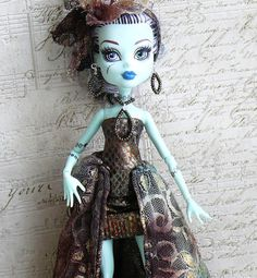 Monster High Clothes hand made Dress Jewelry, OUTFIT for Monster Doll gold and brown on Etsy, $15.00