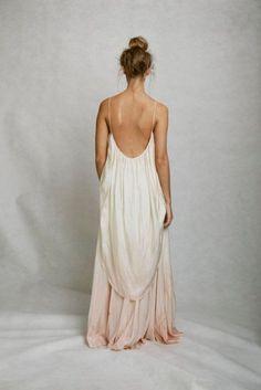 subtle pink dip-dyed wedding dress