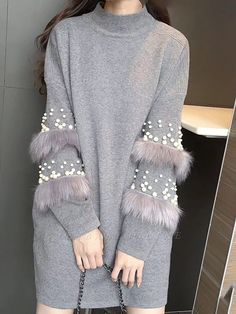 Buy Sweaters For Women from Tiana at Chicloth. Online Shopping Long Sleeve Cotton Casual Solid Sweater, The Best Daytime Sweaters. Casual Sweaters, Long Sweaters, Sweaters For Women, Sleeve Designs, Blouse Designs, Classic Outfits, Casual Outfits, Classic Clothes, Fashion Casual